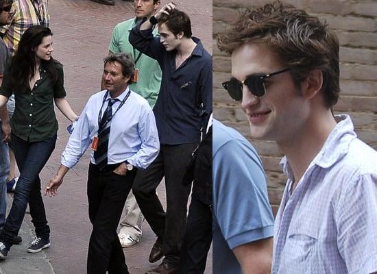 Robert Pattinson and Kristen Stewart Filming New Moon In Italy