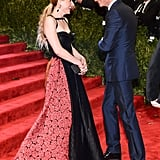 Eddie Redmayne ran into Mamie Gummer on the carpet.  Source: Joe Schildhorn/BFAnyc.com