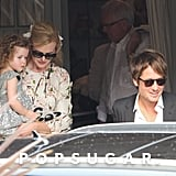 Nicole Kidman held her daughter, Faith, as Keith Urban led the way at Nicole's parents' 50th anniversary bash in Sydney, Australia, on Sunday.