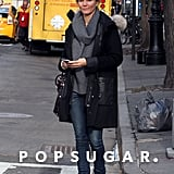 Cameron Diaz wore skinny jeans in NYC.