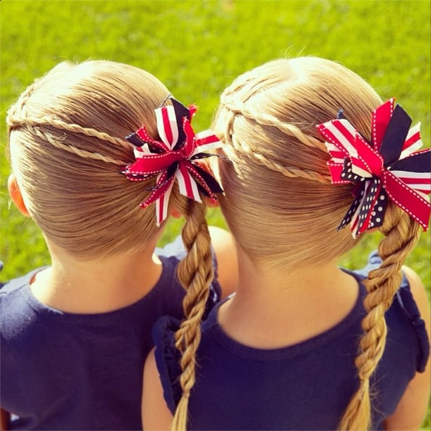 Patriotic Side Braids