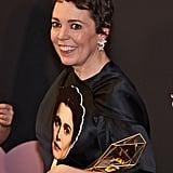 When she collected Rachel Weisz's award.