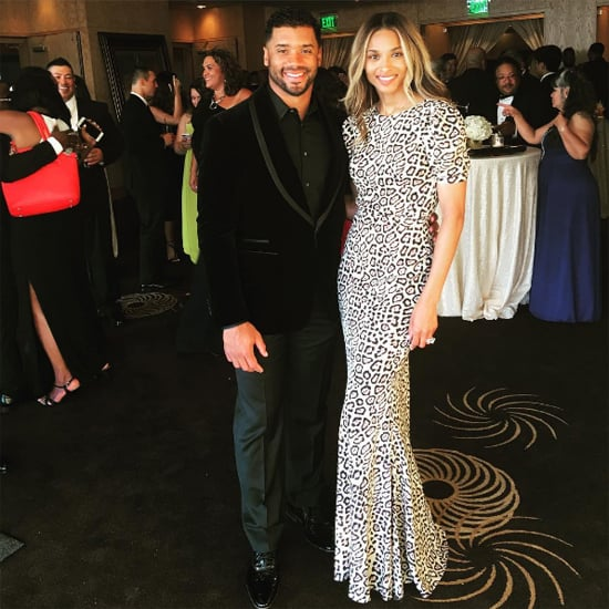 Ciara Givenchy Leopard Dress at a Wedding