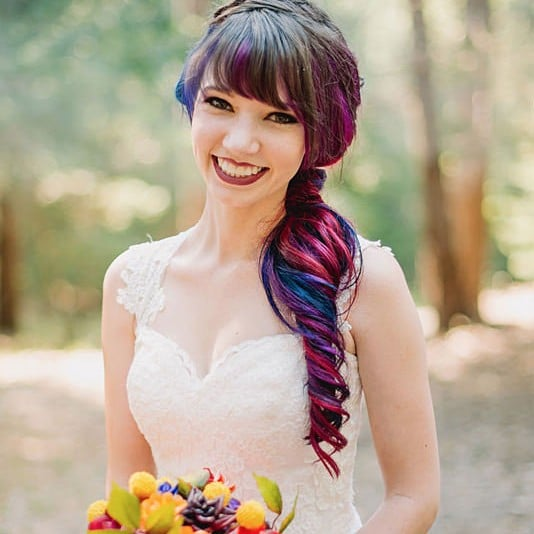 Rainbow Hair Bride | 2016