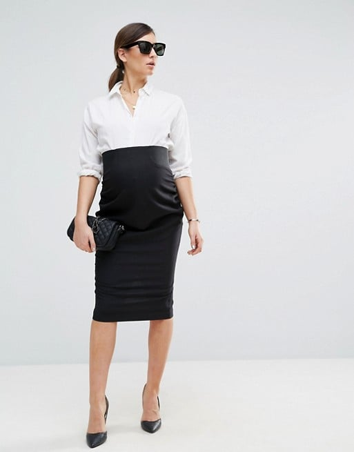 2abe673f902a5 ASOS Maternity Workwear Tailored Pencil Skirt | What to Wear to a ...