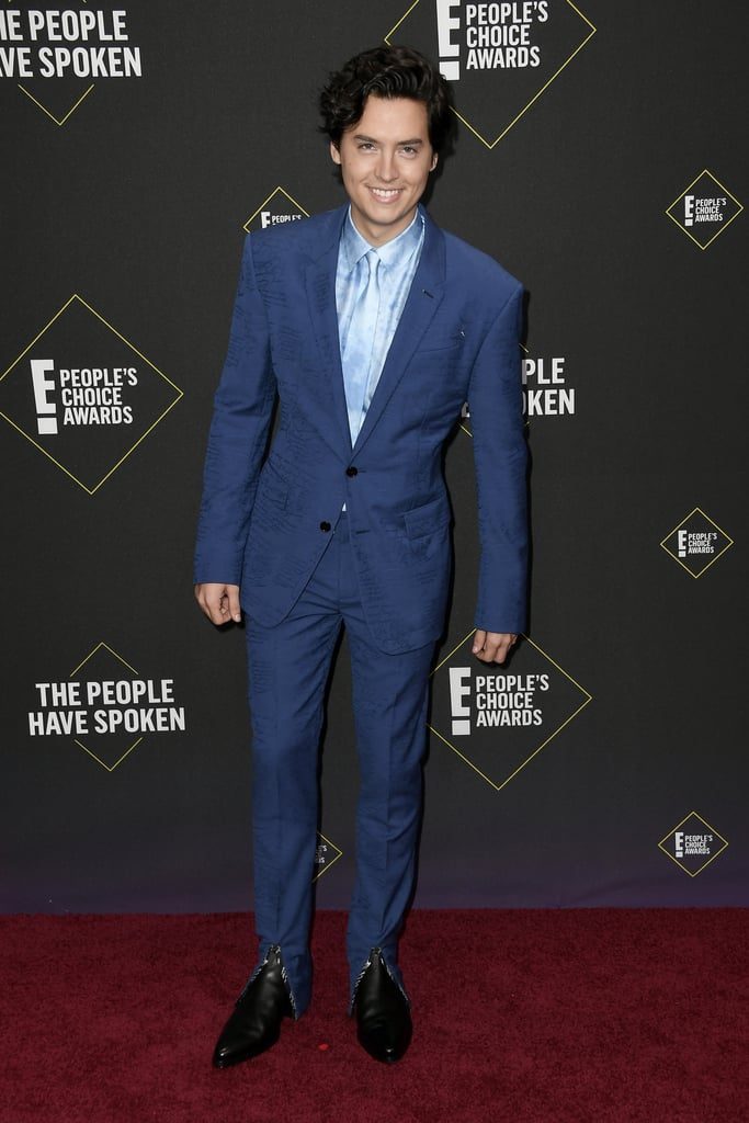 Cole Sprouse's Blue Suit at the 2019 People's Choice Awards