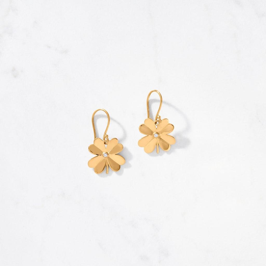4-Leaf Clover Earring Satin