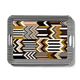 Missoni Zig Zag Stripe Patchwork-Print Melamine Serving Tray With Handles