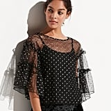 K/lab Dot Tiered Ruffle Top