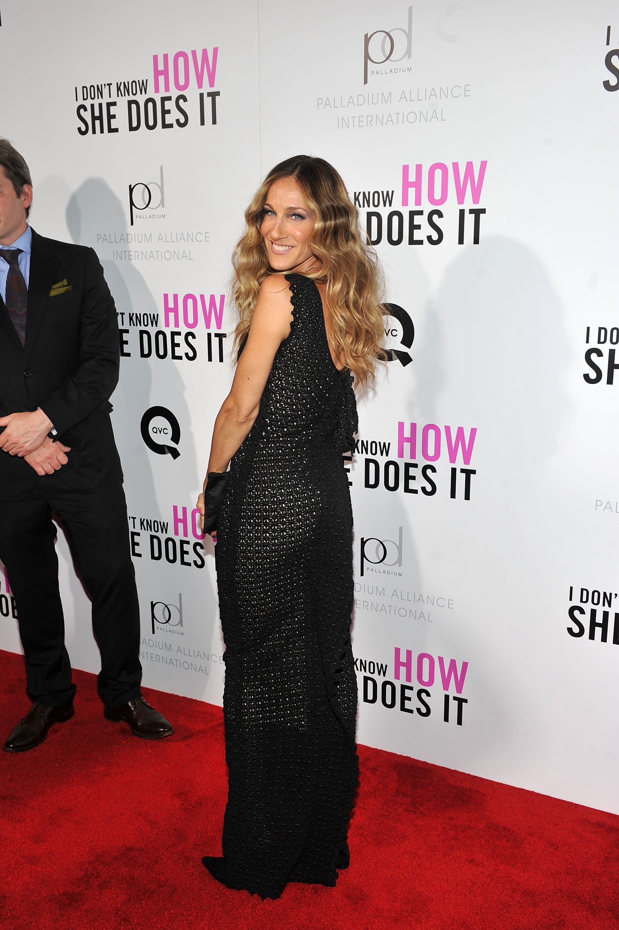 Sarah Jessica Parker showed off the back of her gown.