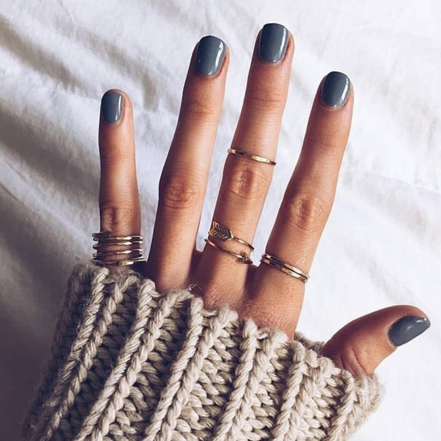 Gray Nail Polish Ideas | POPSUGAR Beauty