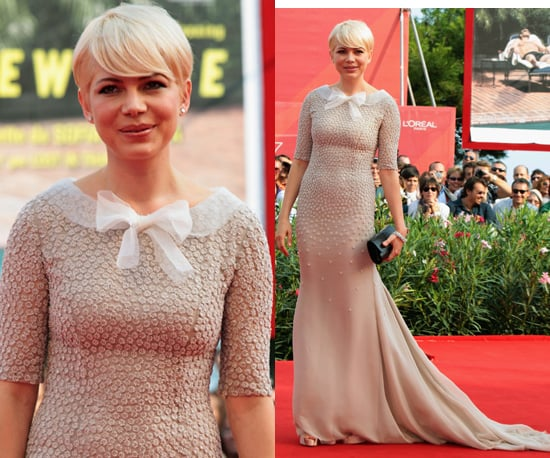 Photos of Michelle Williams at 2010 Venice Film Festival in Long Jason Wu Gown