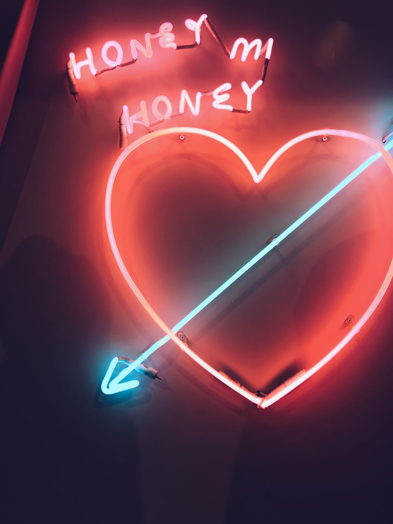 Neon Valentine's Day iPhone Wallpaper
