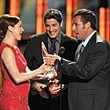 Alyson Hannigan, Jason Biggs, and Adam Sandler