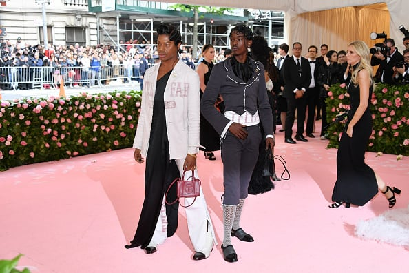 NEW YORK, NEW YORK - MAY 06: Telfar Clemens and Ashton Sanders (R) attends The 2019 Met Gala Celebrating Camp: Notes on Fashion at Metropolitan Museum of Art on May 06, 2019 in New York City. (Photo by Dia Dipasupil/FilmMagic)
