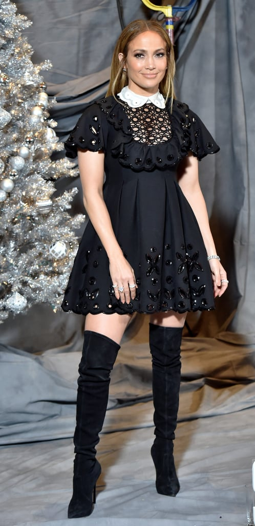 Jennifer Lopez's Black Minidress at Second Act Photo Call