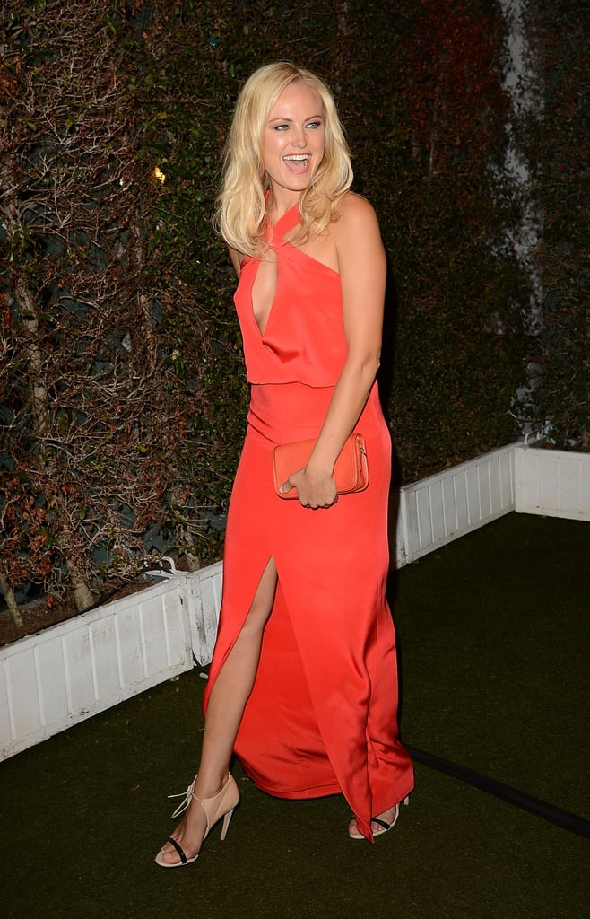 Malin Akerman was ready to join the action at InStyle's Summer party in LA.