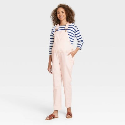 The Nines by Hatch Maternity Classic Cotton Twill Overalls