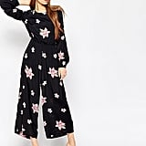 Asos Jumpsuit with Cut Out Back in Spaced Out Floral Print ($85)