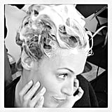 Cat Deeley smiled for the camera while getting her hair washed. Source: Instagram user catdeeley