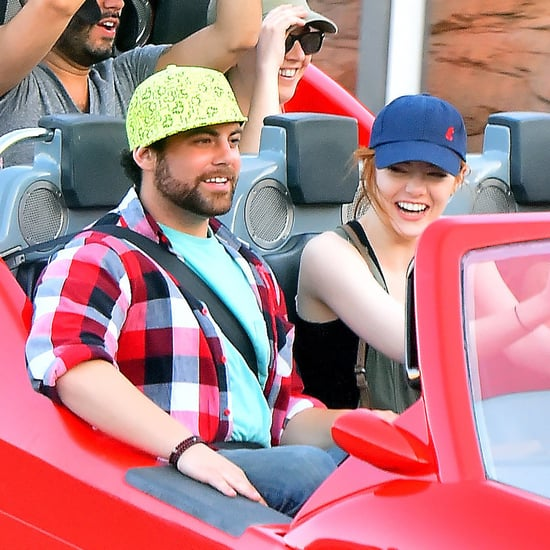 Emma Stone at Disneyland After Andrew Garfield Breakup