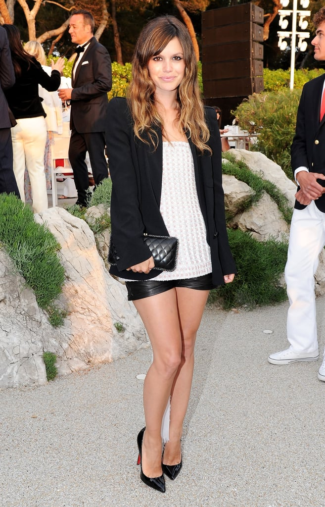 Rachel Bilson in Chanel Spring Couture 2011 beige top and Chanel Spring 2011 leather shorts.