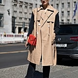 Button a Trench Coat Over Your Long-Sleeved Top and Bring Those White Sneakers Right Into Fall