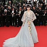 Fan Bingbing channeled her inner fairy princess when she attended the Mad Max: Fury Road premiere in a floral appliqué Marchesa gown. She even rocked a flower crown!