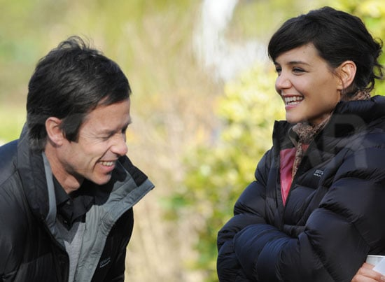 Photo Slide of Guy Pearce Laughing With Katie Holmes on Set in Melbourne