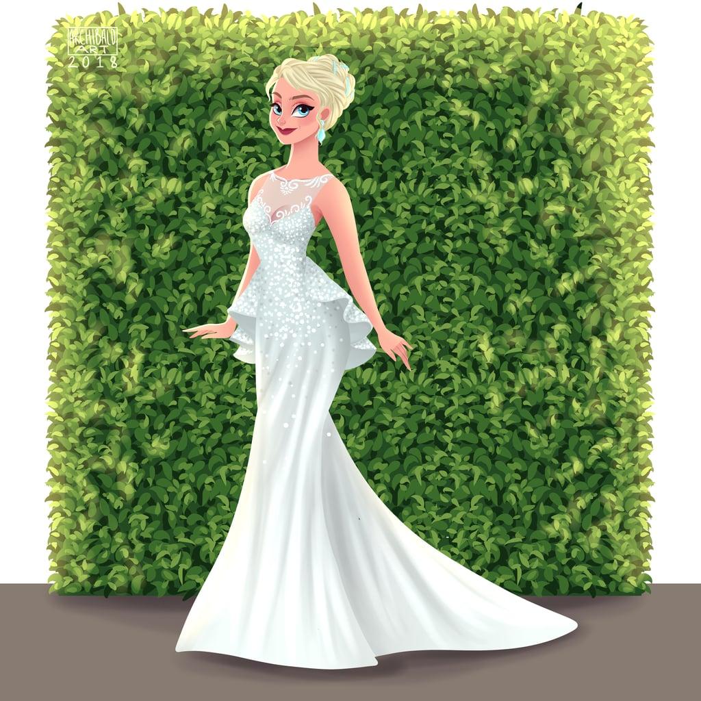 Elsa's Peplum Wedding Gown Is Giving Us Chills