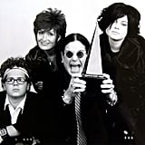 Jack, Sharon, Ozzy, and Kelly Osbourne at the 2003 American Music Awards