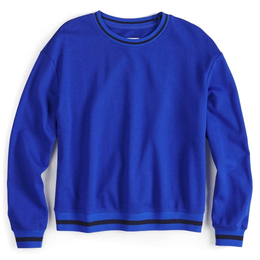 42c7225ad1e Striped-Trim Sweatshirt