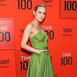 Brie Larson Green Prada Dress Time Gala April 2019