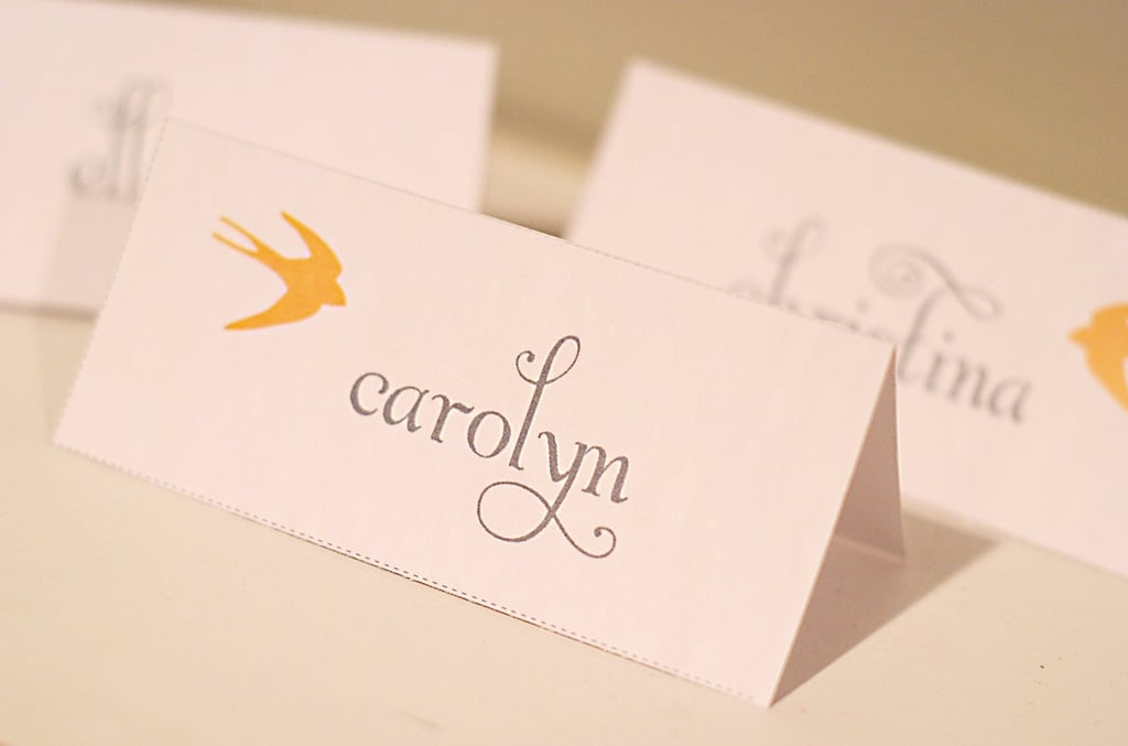 Golden Swallow Place Cards