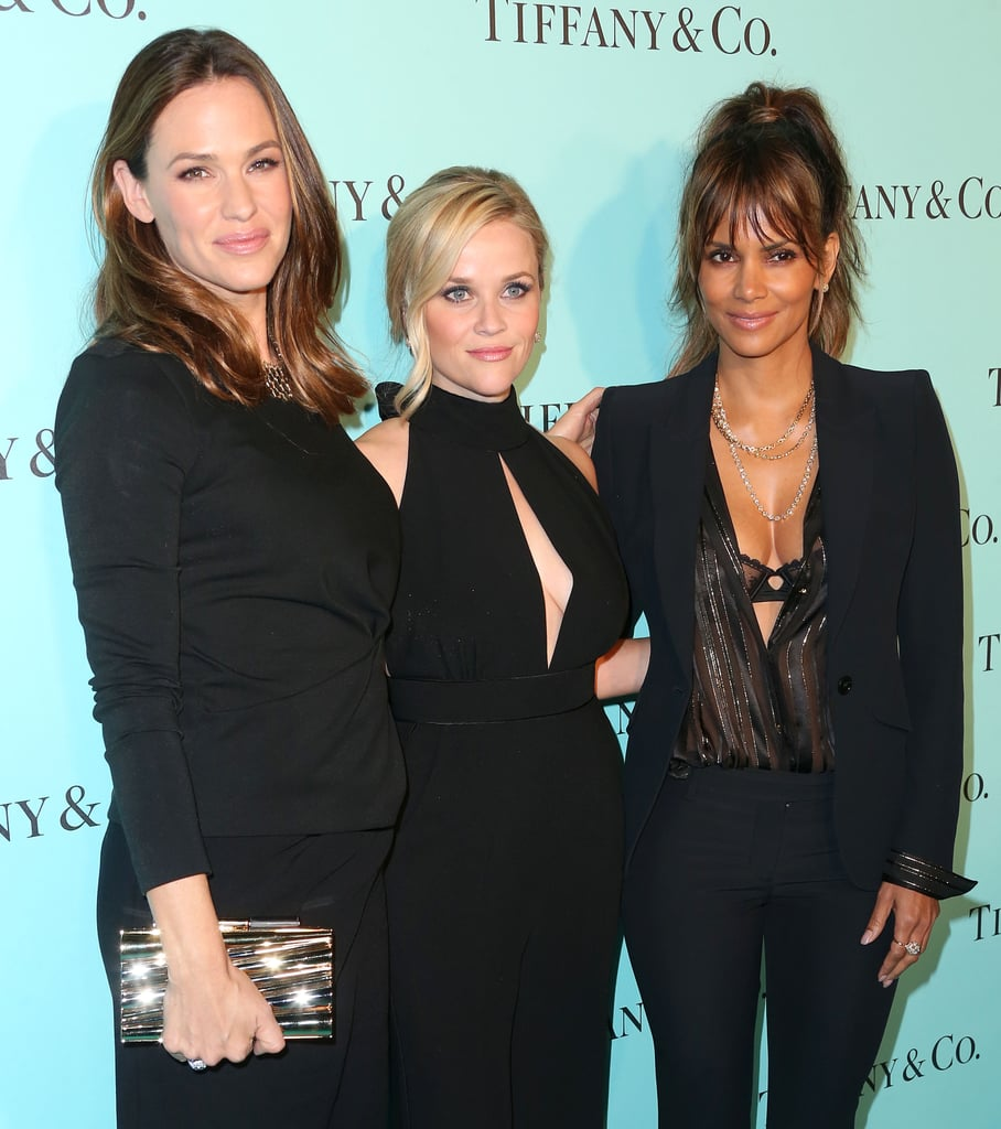 At an event celebrating a renovated Tiffany & Co. store in Beverly Hills on Thursday, Jennifer Garner, Reese Witherspoon, and Halle Berry looked so good they just might have put the diamonds on display to shame. Jennifer and Reese greeted each other with big smiles and a hug when they arrived on the Tiffany blue carpet and then linked up with Halle for one truly gorgeous photo op. Dressed in coordinated shades of black, the trio almost looked like a reboot of Charlie's Angels waiting to happen (just putting it out there, Hollywood execs). Once inside, Jennifer and Reese grabbed a seat next to Kate Hudson and posed for a few fun selfies together. If this is the next big girl gang, consider us on board.       Related:                                                                Reese Witherspoon's Family Photos Are Absolutely Adorable                                                                   Jennifer Garner Jokes About Dating Brad Pitt During Her Morning Run                                                                   Halle Berry Squeezes in a Sexy Bikini Photo Shoot on the Beach Before the End of Summer