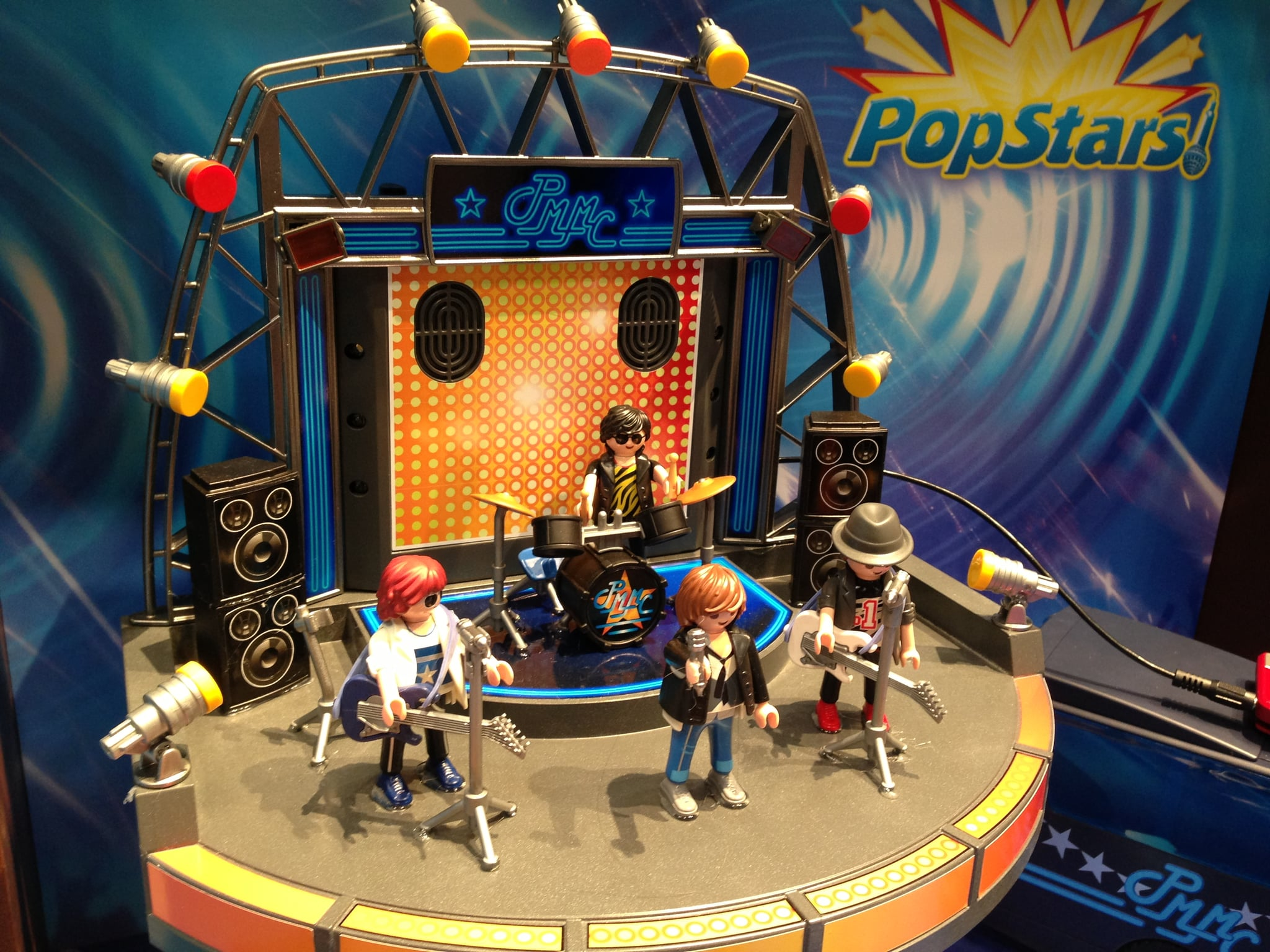 With Playmobil PopStars, you can create your own rock and roll concert — the set plugs into your iPhone or an MP3 player.