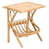 Rattan and Bamboo Accent Table