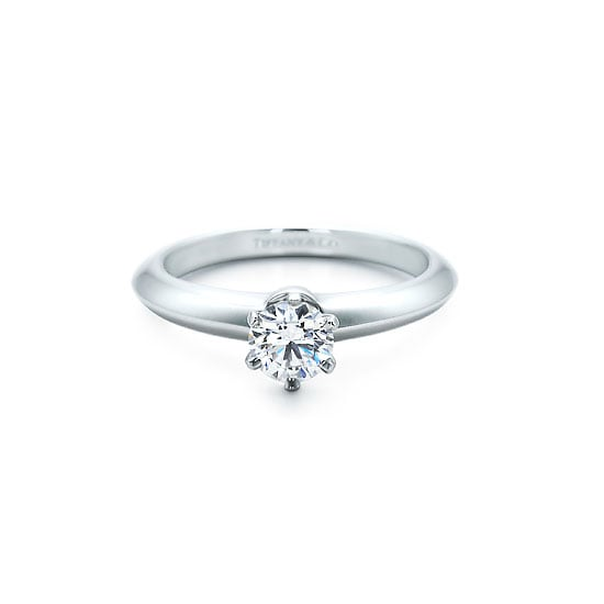 18 carat white gold and diamond ring, $4,400, Tiffany & Co.