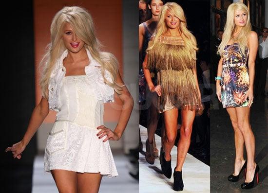 Pictures of Paris Hilton Walking During 2010 Sao Paulo Fashion Week