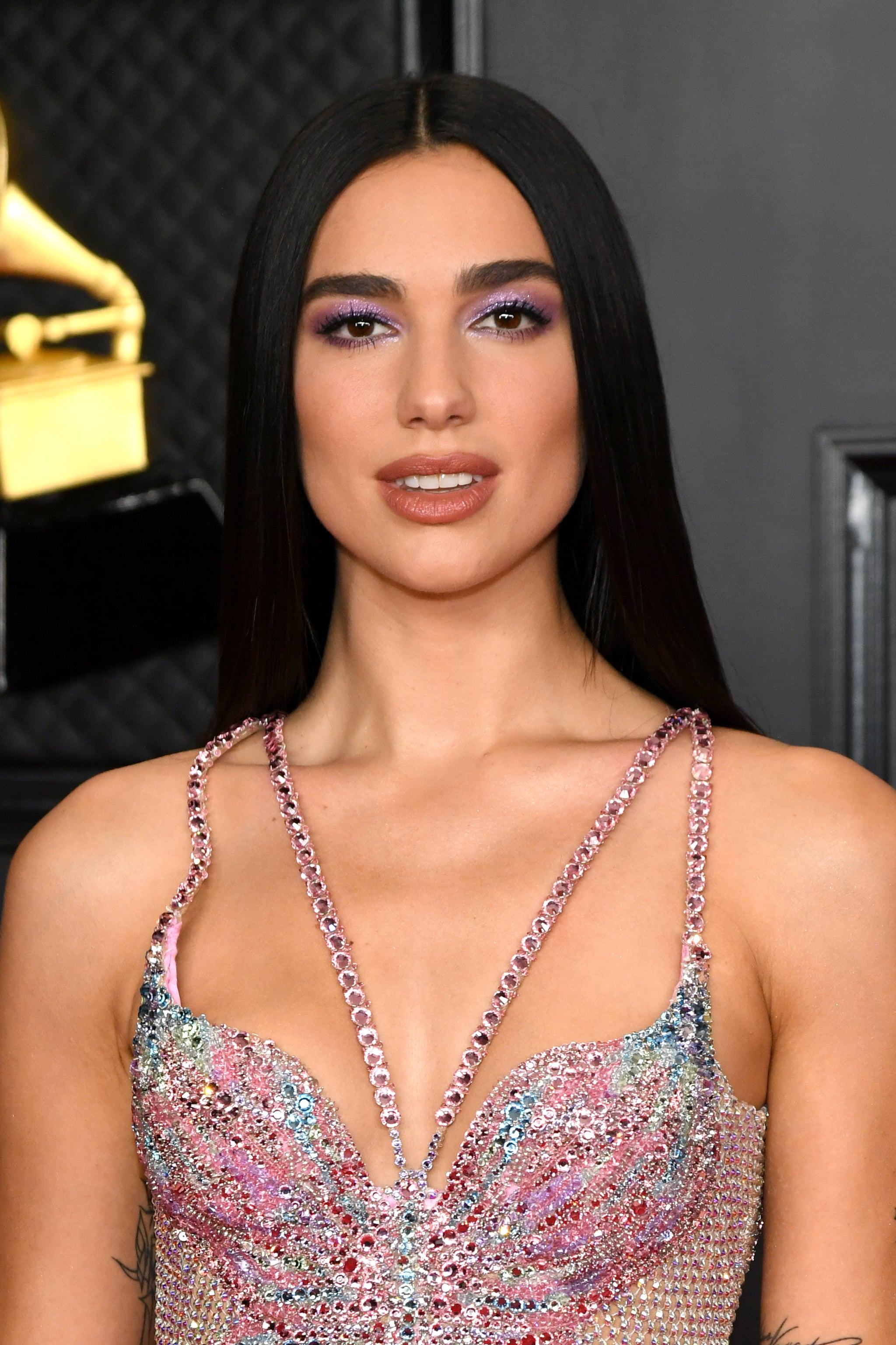 LOS ANGELES, CALIFORNIA - MARCH 14: Dua Lipa attends the 63rd Annual GRAMMY Awards at Los Angeles Convention Centre on March 14, 2021 in Los Angeles, California. (Photo by Kevin Mazur/Getty Images for The Recording Academy )