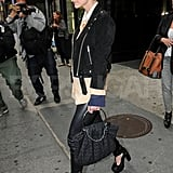 Ashlee Simpson rocked chunky heels in NYC.