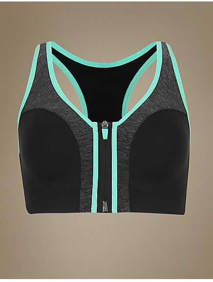 dc416cbb5555b M S Collection Extra High Impact Zip Front Non-Wired Sports Bra ...
