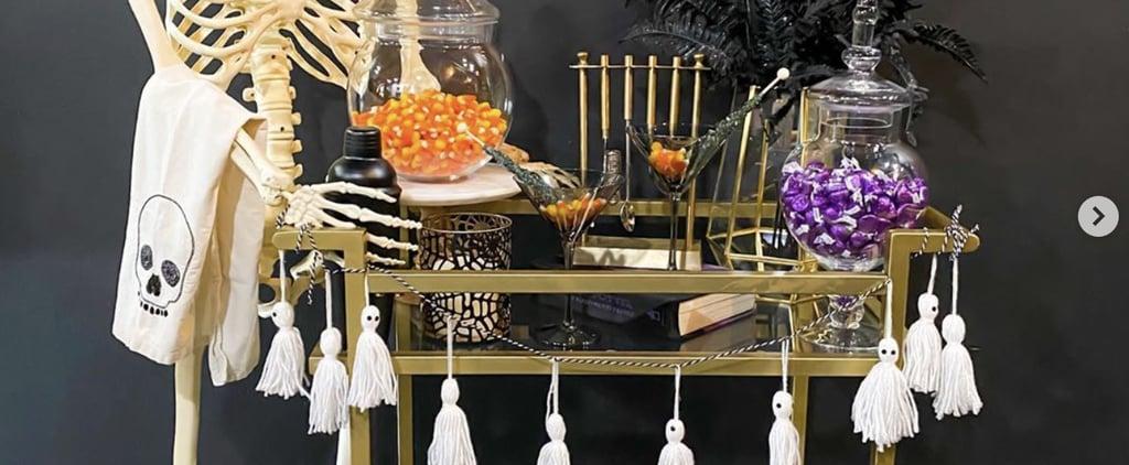 Halloween Bar Cart Decorating Ideas