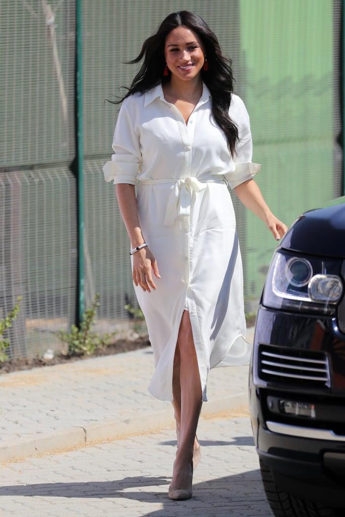 Meghan Markle Wearing a Hannah Lavery Dress