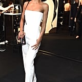 Going for a sleek and simple white jumpsuit for the E by Equinox launch event in 2018.