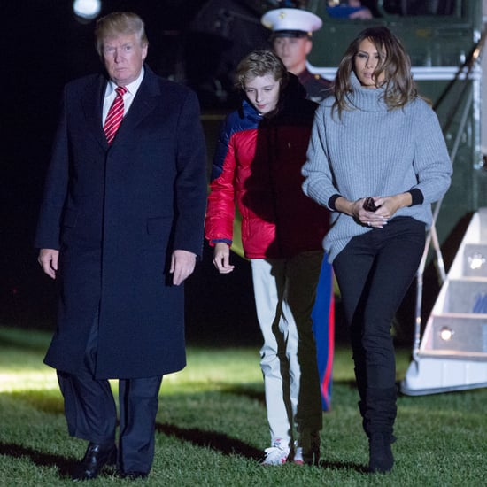 Melania Trump's Black Scrunch Boots