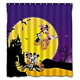 Necci Custom Happy Halloween Full Moon Night Waterproof Fabric Shower Curtain