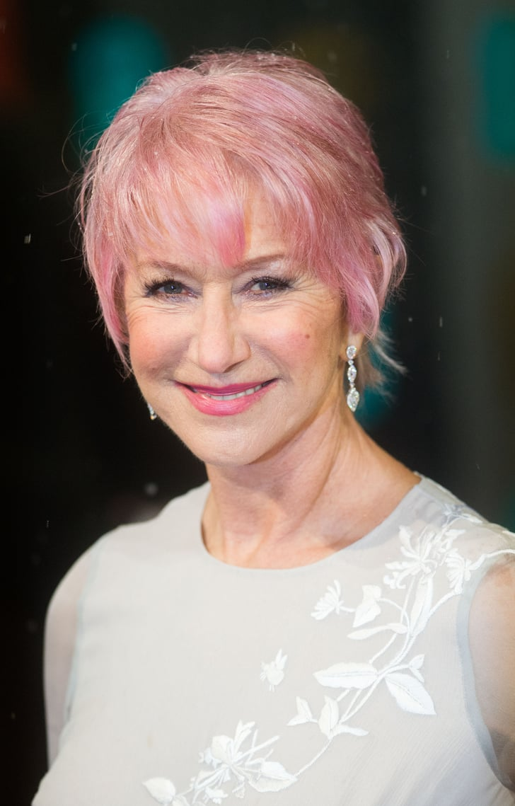 Helen Mirren Celebrities With Bright Hair Color