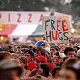 This guy giving free hugs in 2008.