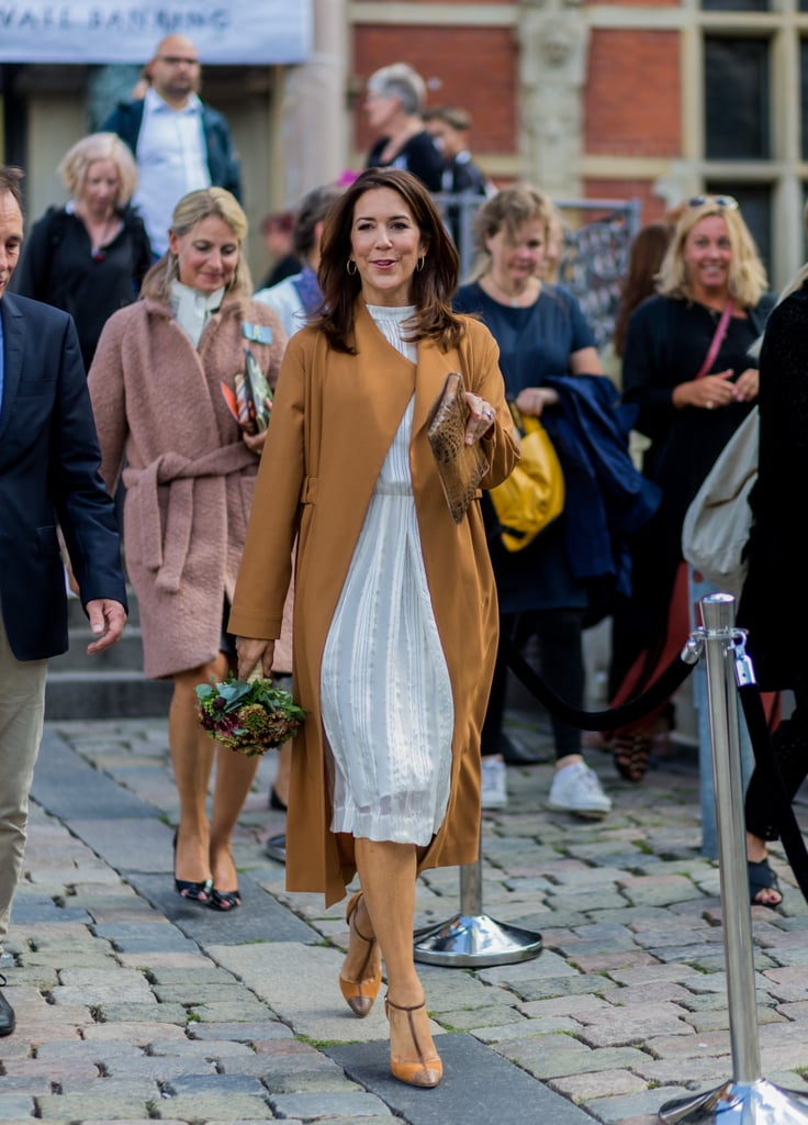 Princess Mary Wearing a Trench and White Dress, 2016